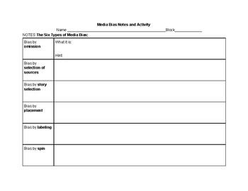 Media Bias and Media Literacy Mini Unit (Two Lessons)