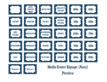 Media Center Signs