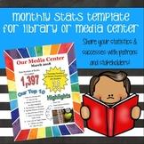 Media Center or Library Newsletter - Statistics Template