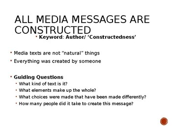 Media Core Questions and Concepts Power Point