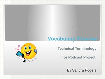 ESL Vocabulary:Technology Terminology for Podcasting (Grad