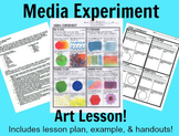 Media Experiment Art Lesson Medium handout and lesson plan for middle school