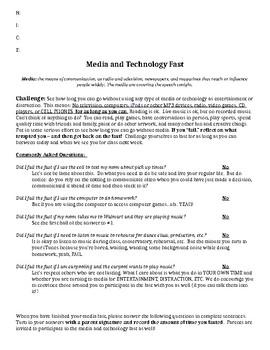 Media Fast- Fahrenheit 451 Activity