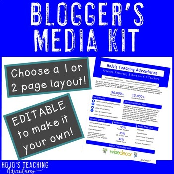 Teacherpreneur Blogger Media Kit