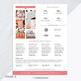 Media Kit Template 2 Page | Blog Media Kit | Press Kit Template | MS WORD