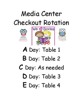 Media/Library Rotation Schedule