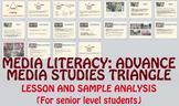 Media Literacy: Advance Media Studies Triangle + Ad Analysis