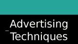 Media Literacy-Advertising Techniques