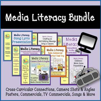 Media Literacy Bundle - Commercials, Song Lyrics, Movie Scenes