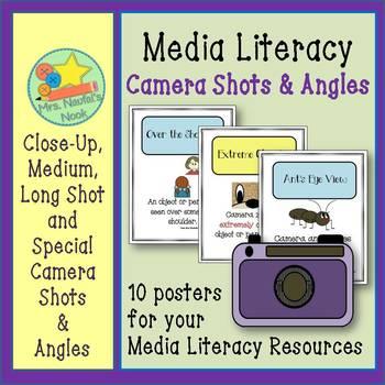Media Literacy - Camera Shots and Angles Posters