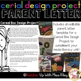Media Literacy: Cereal Box Design Project Parent Letter {Editable}