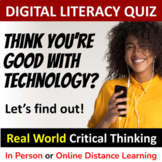 Media Literacy Critical Thinking Web Quest: How good are y