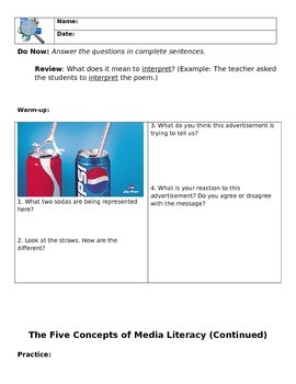 Media Literacy Day 3 - We Interpret Media Differently