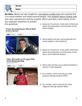 Media Literacy Day 8 - Representations of African Americans in the Media