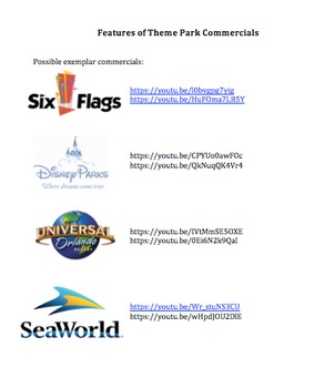 Media Literacy: Features of Theme Park Commercials