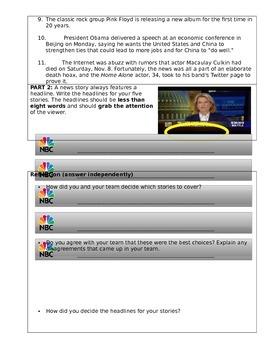 "Media Literacy Filler Lesson: Why is news ""sensational?"""