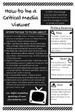 Media Literacy - How to Be a Critical Media Viewer Handout