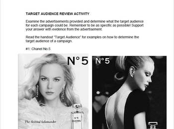 Media Literacy: Intro to Target Audience in Advertisements