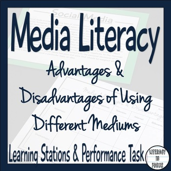 Media Literacy Lesson- Advantages & Disadvantages of Using Different Mediums