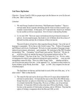 Media Literacy Literature Curriculum