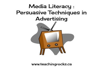 Media Literacy Persuasive Techniques in Advertising