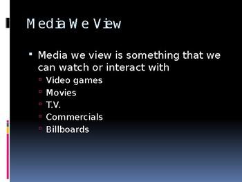 Media Literacy PowerPoint