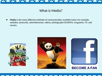 Media Literacy: PowerPoint, Vocabulary, Foldable and Group Discussion