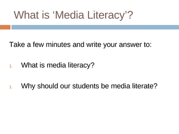 Media Literacy Powerpoint and Activities