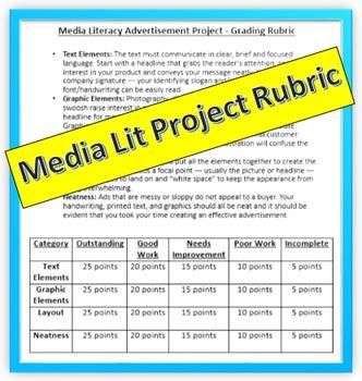 Media Literacy Project Rubric