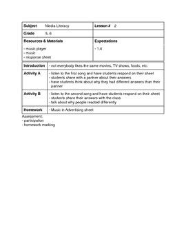 Media Literacy Unit - Grade 5-6