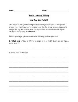 Media Literacy Writing and Poster