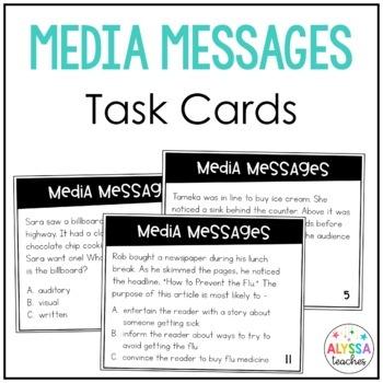 Media Messages Task Cards