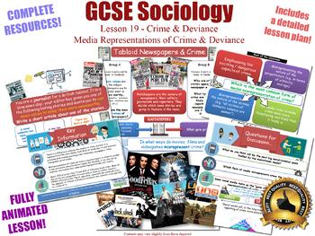 Media Representations & Moral Panics - Crime & Deviance L19/20 (GCSE Sociology)