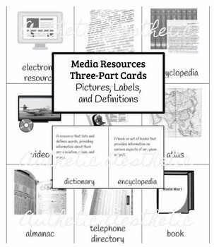 Media Resources Three-Part Cards - Matching