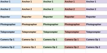 Media Responsibilities Sheet