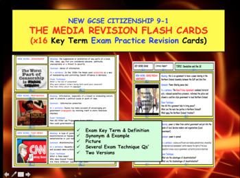 Media Revision flash cards GCSE CITIZENSHIP 9-1