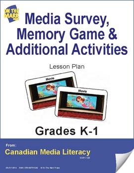 Media Survey, Memory Game & Additional Activities Lesson Plan Gr. K-1