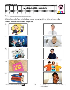Media Texts Purpose and Audience Lesson Plan - Aligned to Common Core