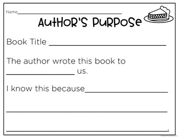 Media and Author's Purpose