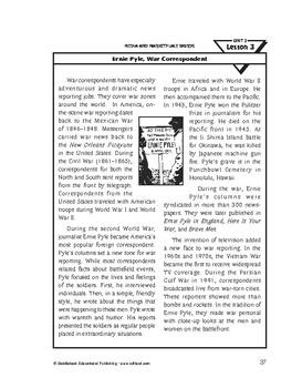 Media and Marketplace Words-Ernie Pyle, War Correspondent