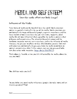 Media and Self Esteem