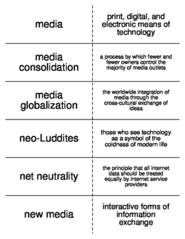 Media and Technology Flash Cards for Sociology