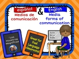 Media forms of communication English-Spanish bundle