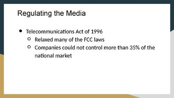 Media in Government and Regulation PowerPoint, Guided and Completed Notes