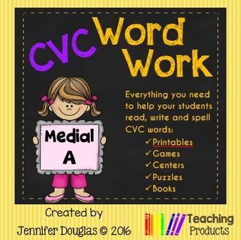 Medial A CVC Word Work