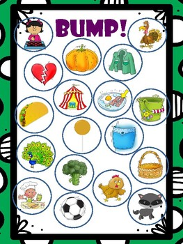 Medial K Articulation Bump! File Folder Game