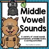 Middle Vowel Sounds (Medial) Worksheets & Printable Books