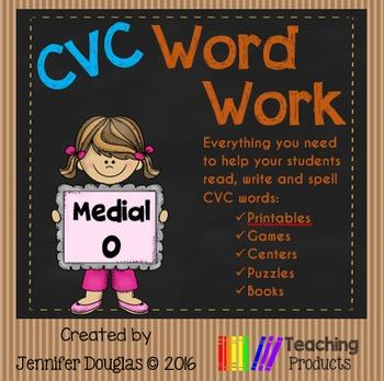 Medial O CVC Word Work