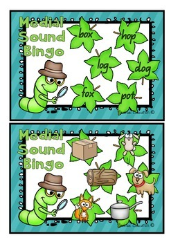 Medial O Sound Bingo