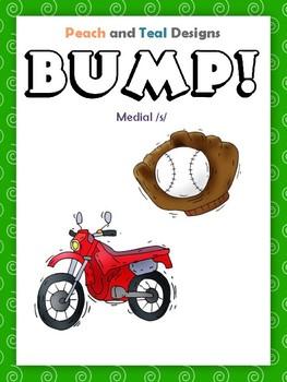 Medial S Articulation Bump! File Folder Game